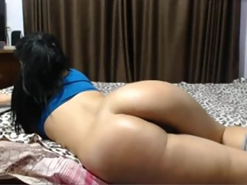 Indian wife lying naked exposing her curvy Ass