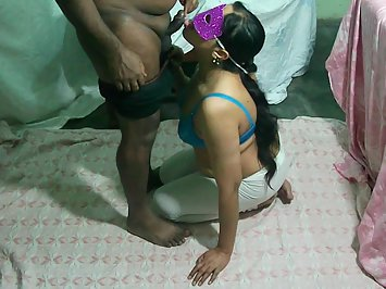 Hot Tamil Bhabhi Swallo Cumshot